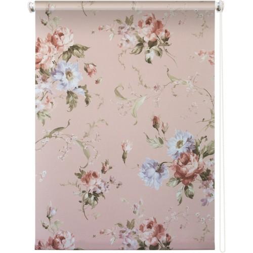 Рулонная штора УЮТ 180х175 Розарий розовый