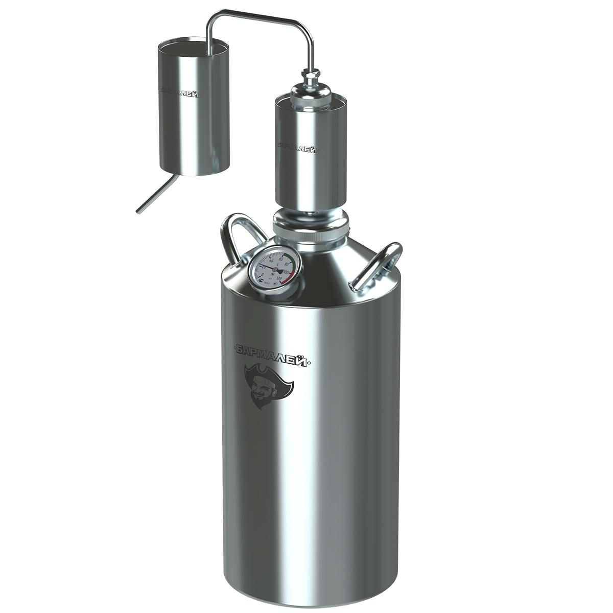 Дистиллятор БАРМАЛЕЙДополнительная техника для кухни<br>Тип: дистиллятор,<br>Объем: 20,<br>Материал: нержавеющая сталь<br>