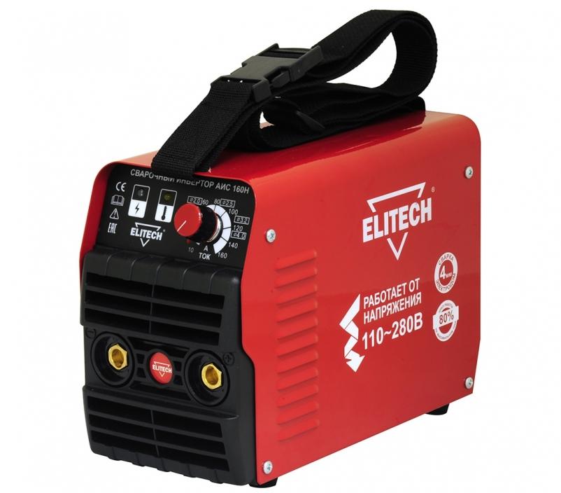 Сварочный аппарат ElitechСварочные аппараты<br>Макс. сварочный ток: 160, Мощность: 4500, Мин. входное напряжение: 110, Выходной ток: 10-160, Напряжение холостого хода: 74, Мин. диаметр электрода: 1.6, Макс. диаметр электрода: 4, Тип сварочного аппарата: инверторный, Тип сварки: дуговая (MMA+TIG), Инверторная технология: есть, Размеры: 230x120x170, Степень защиты от пыли и влаги: IP 21, Режим работы ПН %: 80<br>