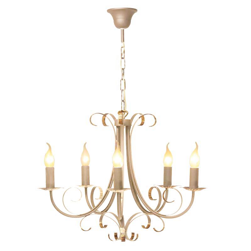 Люстра СЕВЕРНЫЙ СВЕТЛюстры<br>Назначение светильника: для комнаты,<br>Стиль светильника: классика,<br>Тип: подвесная,<br>Материал арматуры: металл,<br>Диаметр: 610,<br>Высота: 840,<br>Количество ламп: 5,<br>Тип лампы: накаливания,<br>Мощность: 60,<br>Патрон: Е14,<br>Цвет арматуры: бежевый,<br>Коллекция: Полонез<br>
