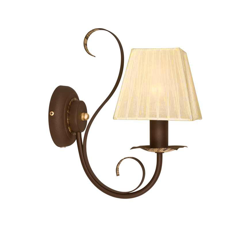 Бра СЕВЕРНЫЙ СВЕТНастенные светильники и бра<br>Тип: бра,<br>Назначение светильника: для комнаты,<br>Стиль светильника: классика,<br>Тип лампы: накаливания,<br>Количество ламп: 1,<br>Мощность: 60,<br>Патрон: Е14,<br>Цвет арматуры: медь,<br>Высота: 310,<br>Коллекция: Полонез<br>