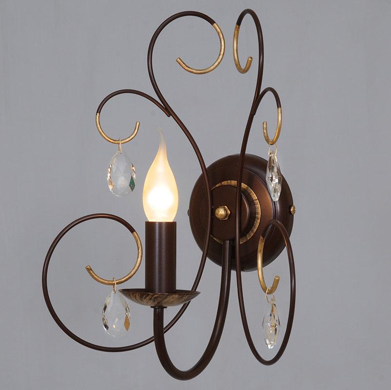Бра СЕВЕРНЫЙ СВЕТНастенные светильники и бра<br>Тип: бра,<br>Назначение светильника: для комнаты,<br>Стиль светильника: классика,<br>Тип лампы: накаливания,<br>Количество ламп: 1,<br>Мощность: 60,<br>Патрон: Е14,<br>Цвет арматуры: медь,<br>Высота: 395,<br>Коллекция: вивальди<br>