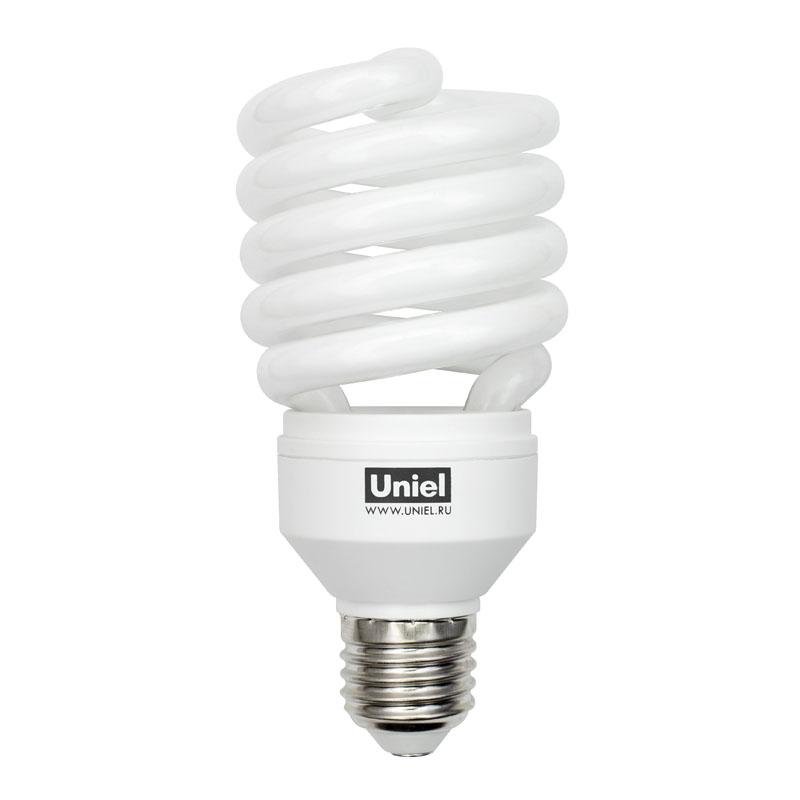 Лампа энергосберегающая UnielЛампы<br>Тип лампы: энергосберегающая КЛЛ, Форма лампы: спираль, Цвет колбы: белая, Тип цоколя: Е27, Напряжение: 230, Мощность: 32, Цветовая температура: 2700, Цвет свечения: теплый<br>