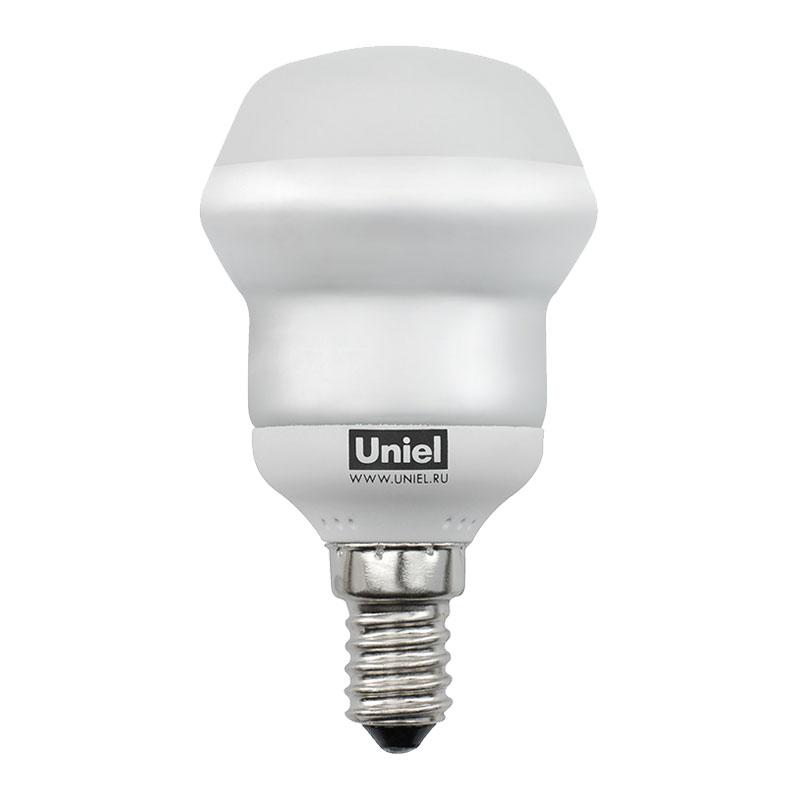 Лампа энергосберегающая UnielЛампы<br>Тип лампы: энергосберегающая КЛЛ, Форма лампы: груша, Цвет колбы: прозрачная, Тип цоколя: Е14, Напряжение: 230, Мощность: 9, Цветовая температура: 2700, Цвет свечения: теплый<br>