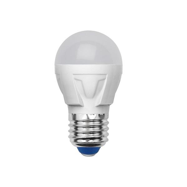 Лампа светодиодная VolpeЛампы<br>Тип лампы: светодиодная, Форма лампы: груша, Цвет колбы: белая, Тип цоколя: Е27, Напряжение: 175-250, Мощность: 6, Цветовая температура: 3000, Цвет свечения: теплый, Длина (мм): 83<br>