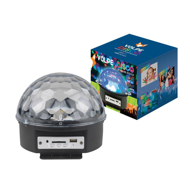 Светильник-проектор VolpeСветильники для вечеринок<br>Тип: проектор, Тип установки: подвесной, Тип лампы: светодиодная, Источники питания: сеть 220v, Мощность: 8<br>