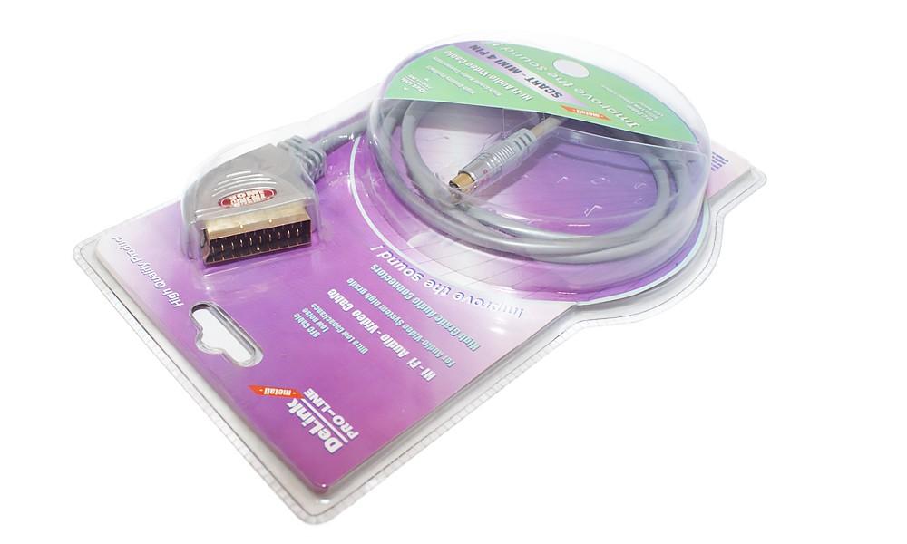 Кабель DelinkКабели и антенны<br>Тип разъемов: SVSH/SCART,<br>Длина кабеля: 1,<br>Назначение: видео,<br>Позолоченные контакты: есть<br>