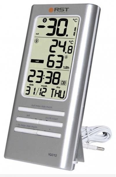 Метеостанция RstМетеостанции<br>Размеры: 126х61х19,<br>Мин. температура: -50,<br>Макс. температура: 70,<br>Источники питания: AAA<br>