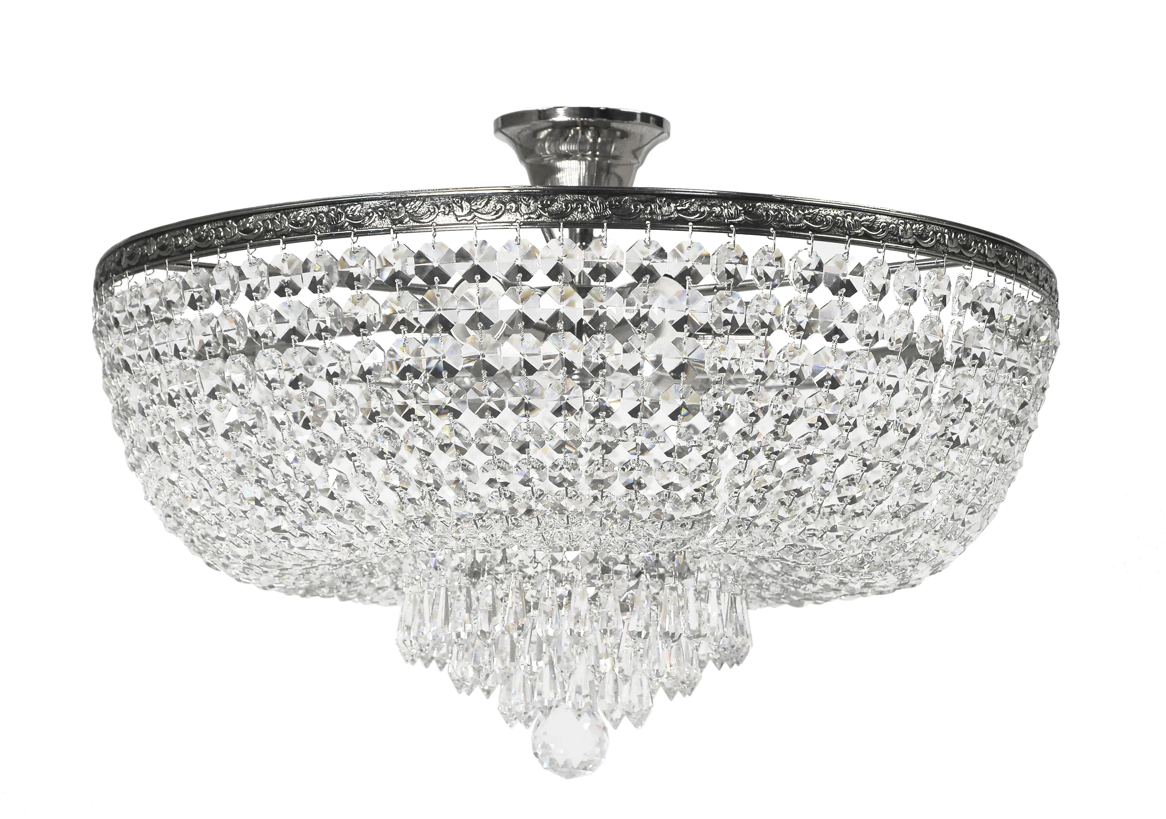Люстра Arti lampadariЛюстры<br>Назначение светильника: для комнаты,<br>Стиль светильника: классика,<br>Материал плафона: стекло, хрусталь,<br>Материал арматуры: металл,<br>Диаметр: 290,<br>Высота: 500,<br>Количество ламп: 6,<br>Тип лампы: накаливания,<br>Мощность: 60,<br>Патрон: Е27,<br>Цвет арматуры: никель<br>