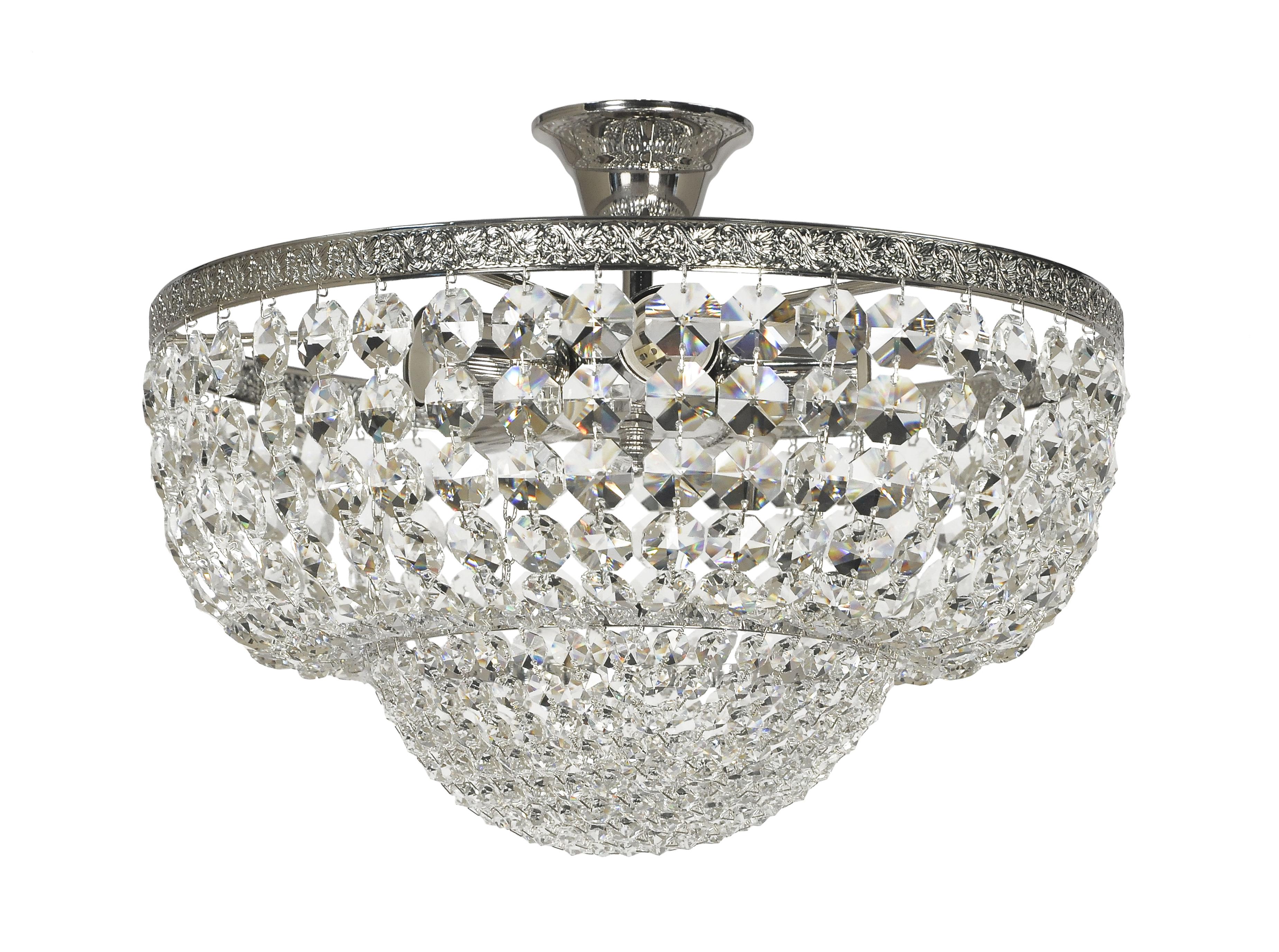 Люстра Arti lampadariЛюстры<br>Назначение светильника: для комнаты,<br>Стиль светильника: классика,<br>Материал плафона: стекло, хрусталь,<br>Материал арматуры: металл,<br>Диаметр: 300,<br>Высота: 400,<br>Количество ламп: 5,<br>Тип лампы: накаливания,<br>Мощность: 60,<br>Патрон: Е27,<br>Цвет арматуры: никель<br>
