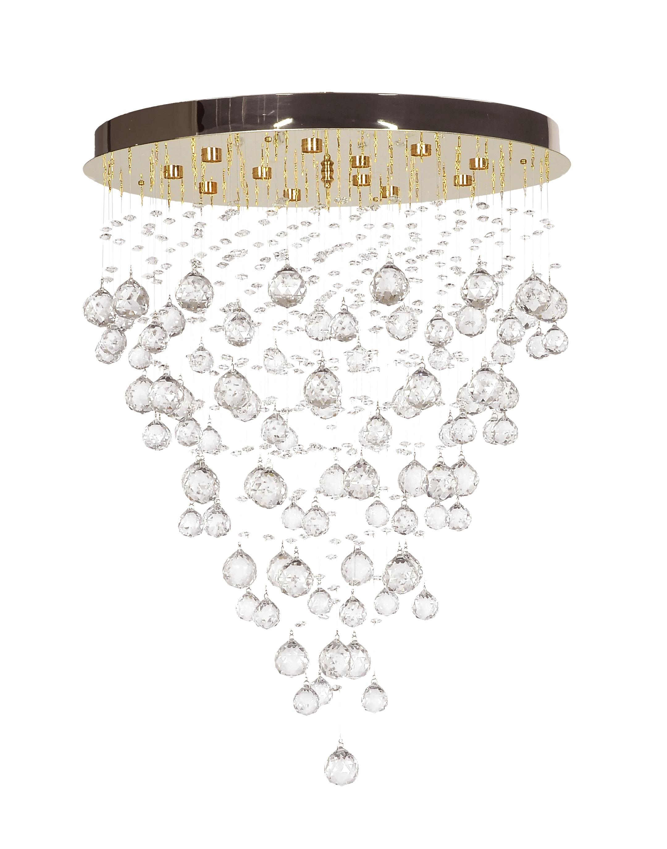 Люстра Arti lampadariЛюстры<br>Назначение светильника: для комнаты,<br>Стиль светильника: классика,<br>Материал плафона: стекло, хрусталь,<br>Материал арматуры: металл,<br>Диаметр: 780,<br>Высота: 550,<br>Количество ламп: 8,<br>Тип лампы: галогенная,<br>Мощность: 40,<br>Патрон: G9,<br>Цвет арматуры: золото<br>
