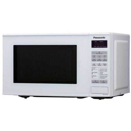 Микроволновая печь PanasonicМикроволновые печи<br>Мощность: 800,<br>Объем: 20,<br>Внутреннее покрытие: эмаль,<br>Расположение: отдельностоящая,<br>Размеры: 450х260х340,<br>Переключатели: сенсорные,<br>Дисплей: есть,<br>Управление: электронное,<br>Цвет: белый,<br>Таймер: есть,<br>Открывание дверцы: кнопка,<br>Режим разморозки: есть,<br>Автоматическое приготовление: есть,<br>Автоматическая разморозка: есть,<br>Автоматический разогрев: есть<br>