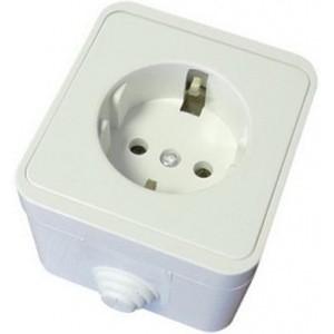 Розетка ТДМЭлектроустановочные изделия<br>Тип изделия: розетка,<br>Способ монтажа: скрытой установки,<br>Цвет: белый,<br>Заземление: есть,<br>Сила тока: 16,<br>Степень защиты от пыли и влаги: IP 44,<br>Количество гнезд: 1<br>