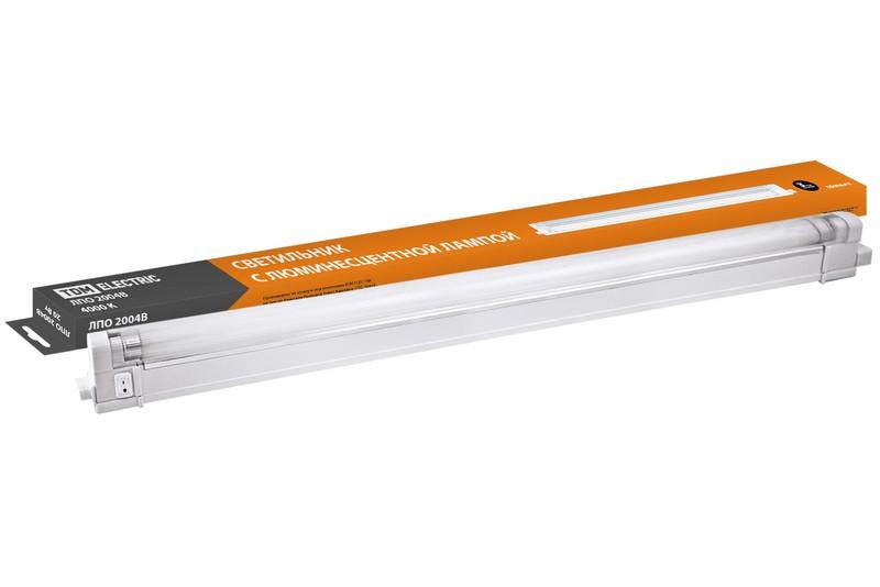 Светильник ТДМСветильники офисные, промышленные<br>Назначение светильника: для производственных помещений, Тип лампы: люминесцентная, Мощность: 20, Количество ламп: 1, Патрон: G5, Цвет: белый<br>