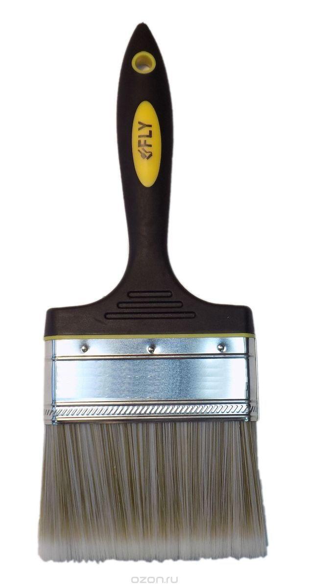 Кисть флейцевая FlyКисти малярные<br>Тип кисти: плоская, Щетина: натуральная, Ширина: 75, Материал рукоятки: древесина, Размер: 75<br>