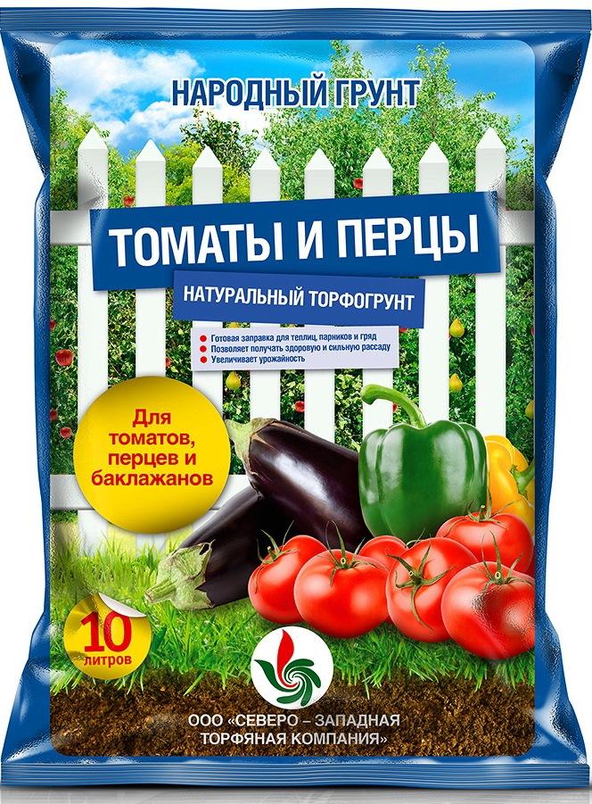 Грунт для томатов и перцев НАРОДНЫЙ ГРУНТГрунты для растений<br>Тип грунта: почвогрунт, Объем: 10, Назначение грунта: овощи, Для рассады: есть, Для томатов: есть, Для перца: есть, Для баклажан: есть<br>