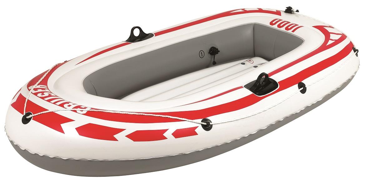 Лодка JilongЛодки надувные<br>Тип: лодка,<br>Тип лодки: гребная,<br>Тип дна: надувное,<br>Материал: ПВХ,<br>Максимальная нагрузка: 120,<br>Количество посадочных мест: 2,<br>Форма: U-образная,<br>Размеры: 1850х980х280<br>