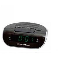 Часы-радио FirstЧасы<br>Тип: часы-радио,<br>Тип часов: электронный,<br>Форма: овальная,<br>ЖК-дисплей: есть,<br>Дисплей: цифровой,<br>Источники питания: аккумулятор/сеть 220В,<br>Цвет: зеленый<br>