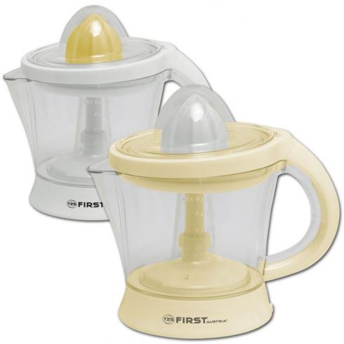 Соковыжималка FirstСоковыжималки<br>Тип: для цитрусовых,<br>Принцип работы соковыжималки: прессовая,<br>Мощность: 25,<br>Резервуар для сока: встроенный,<br>Система прямой подачи сока: есть,<br>Объем резервуара для мякоти: 1.2,<br>Материал корпуса: пластик<br>
