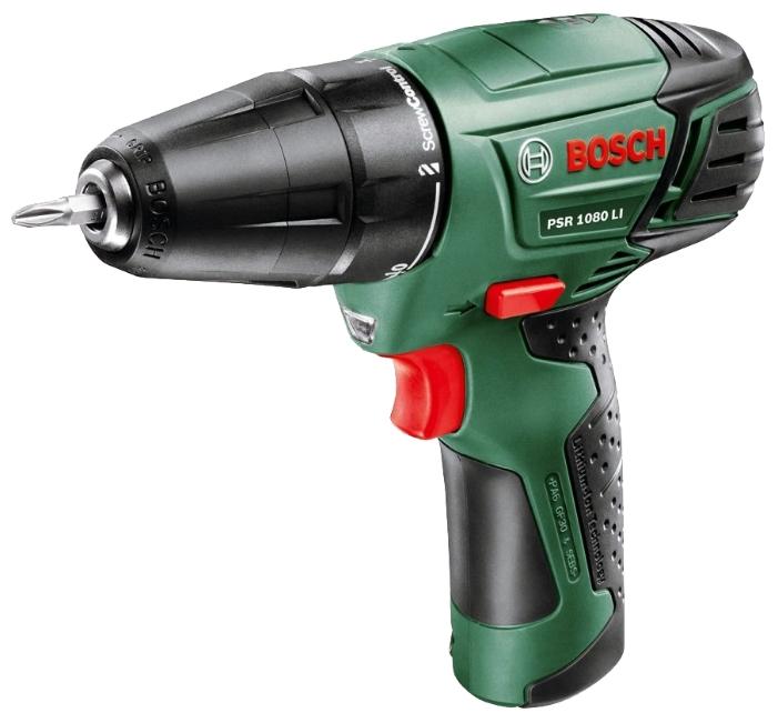 Дрель аккумуляторная Bosch Psr 1080 li интегр. акк.