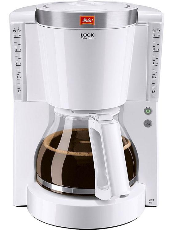 Кофеварка MelittaКофеварки<br>Тип: капельная, Тип используемого кофе: молотый, Мощность: 1000, Автоотключение: есть, Дисплей: нет, Подогрев чашек: нет, Противокапельная система: есть, Тип управления: механическое, Материал корпуса: пластик, Световая индикация: есть<br>
