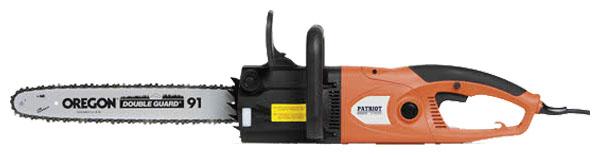 Пила цепная PatriotПилы цепные электрические<br>Мощность: 2200, Обороты: 13500, Длина шины: 16  , Количество звеньев цепи: 57, Шаг и толщина цепи: 3/8-1.3мм, Шаг цепи: 3/8  , Расположение двигателя: продольное, Бак для масла: 0.11<br>