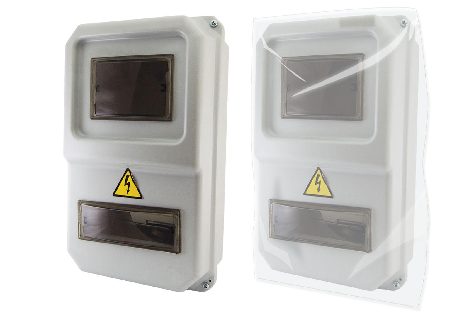 Щит учетно-распределительный ТДМЩиты электрические, боксы<br>Тип: щит,<br>Тип установки: навесной,<br>Материал: пластик,<br>Степень защиты от пыли и влаги: IP 54,<br>Использование: на улице,<br>Высота: 234,<br>Ширина: 383,<br>Глубина: 119,<br>Фазность счетчика: 1-фазный,<br>Количество модулей: 8<br>