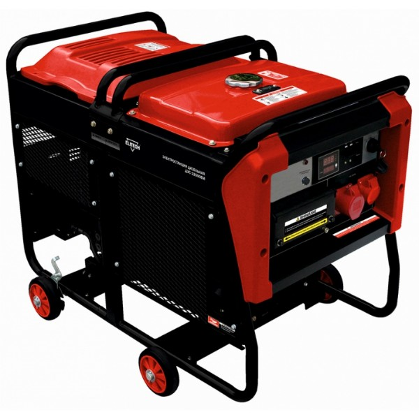 Генератор ElitechГенераторы (электростанции)<br>Полная мощность: 11, Мощность активная: 11, Рабочий объем: 997, Бак: 25, Время работы на полном баке: 6.4, Вид топлива: дизельное, Бак для масла: 1.39999999999999, Назначение генератора: резервный, Тип стартера: электрический, Колеса: есть, Размеры: 868х635х676, Вес нетто: 170<br>