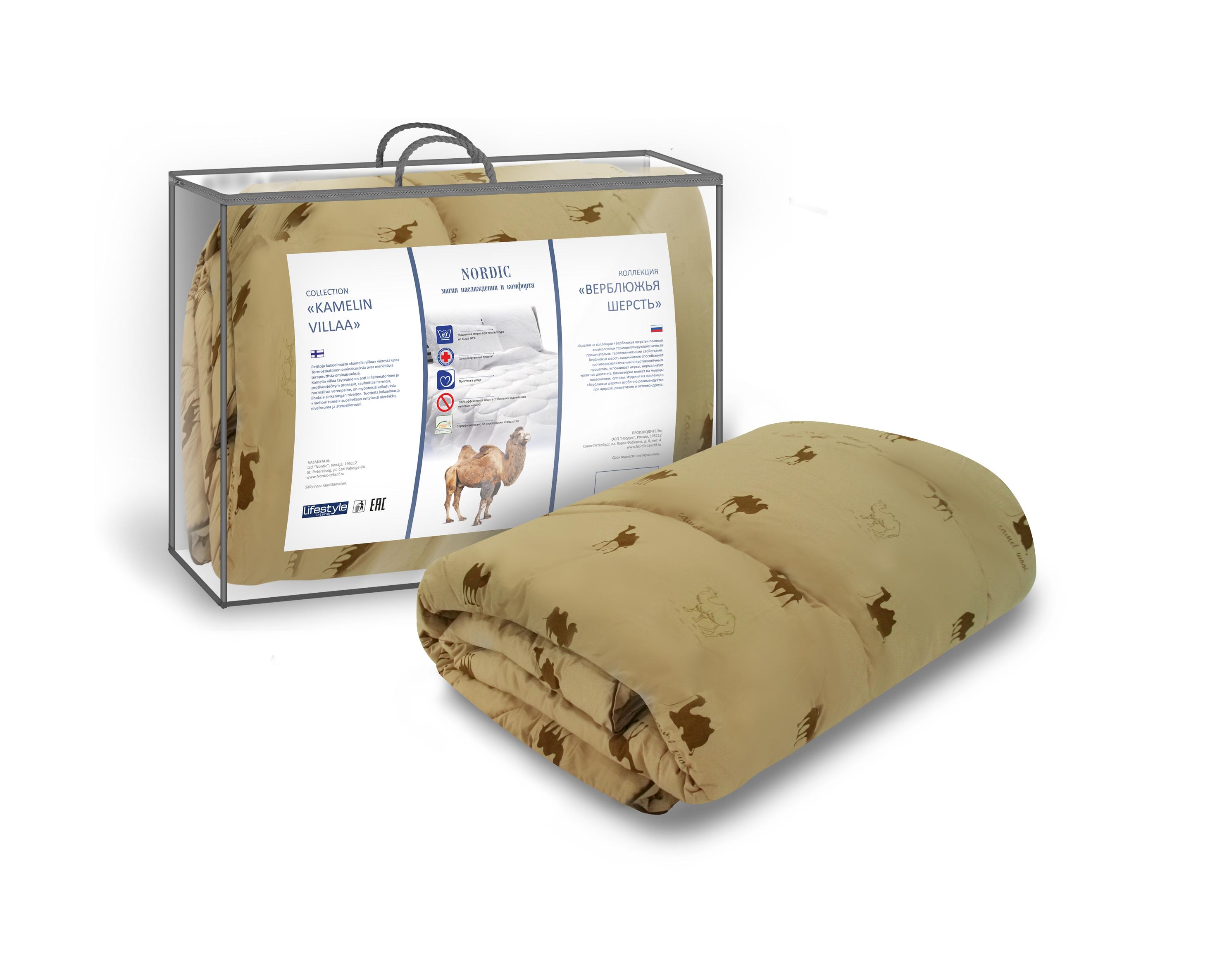 Одеяло NordicОдеяла<br>Размеры: 2000х2200, Наполнитель: верблюжья шерсть, Материал чехла: хлопок, полиэстер, Плотность одеяла: стандартное, Стеганое: есть, Гипоаллергенное: есть<br>