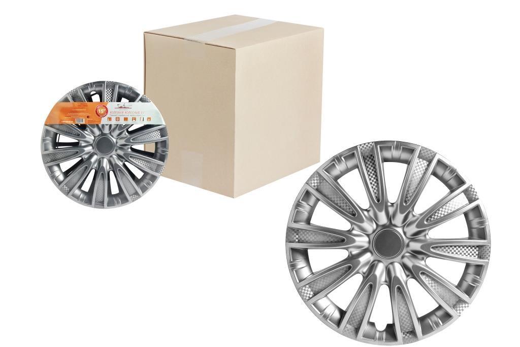 Колпаки на колёса AirlineКолпаки на колёса<br>Диаметр колес: 14, Цвет: металлик<br>
