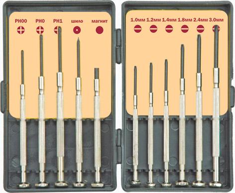 Отвертка КУРСОтвертки<br>Тип отвертки: набор, Отверток в наборе: 11, Тип рукоятки: прямая, Набор: есть<br>