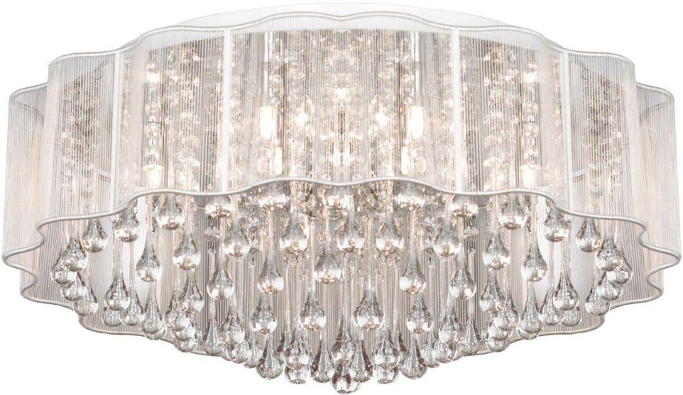 Люстра LgoЛюстры<br>Назначение светильника: для спальни, Стиль светильника: классика, Тип: потолочная, Материал светильника: металл, хрусталь, Материал плафона: стекло, Материал арматуры: металл, Длина (мм): 280, Ширина: 600, Высота: 1200, Количество ламп: 8, Тип лампы: галогенная, Мощность: 40, Патрон: G9, Цвет арматуры: белый, Родина бренда: Италия<br>