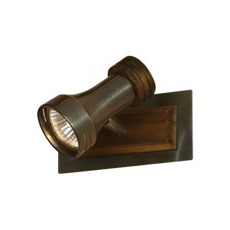 Спот LussoleСпоты<br>Тип: спот, Стиль светильника: модерн, Количество ламп: 1, Тип лампы: галогенная, Мощность: 50, Патрон: GU10, Цвет арматуры: латунь, Ширина: 130, Длина (мм): 120, Удаление от стены: 140<br>