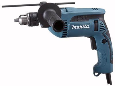 Дрель ударная MakitaДрели ударные<br>Мощность: 680, Скорости: 1, Обороты: 0-2800, Макс. обороты: 2800, Диаметр патрона: 13, Тип патрона: ключевой, Число ударов: 44800, Макс. диаметр сверления (металл): 13, Макс. диаметр сверления (дерево): 30, Макс. диаметр сверления (камень): 16, Две и более механических скоростей: нет, Поддержание постоянного количества оборотов: нет, Электронная регулировка числа оборотов: есть, Реверс: есть, Вес нетто: 2.3, Поставляется в: кейсе<br>
