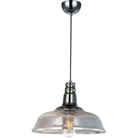 Светильник подвесной LoftСветильники подвесные<br>Количество ламп: 1,<br>Мощность: 60,<br>Назначение светильника: подвесной,<br>Стиль светильника: стимпанк,<br>Материал светильника: металл, стекло,<br>Высота: 1500,<br>Ширина: 350,<br>Тип лампы: накаливания,<br>Патрон: Е27,<br>Цвет арматуры: хром<br>
