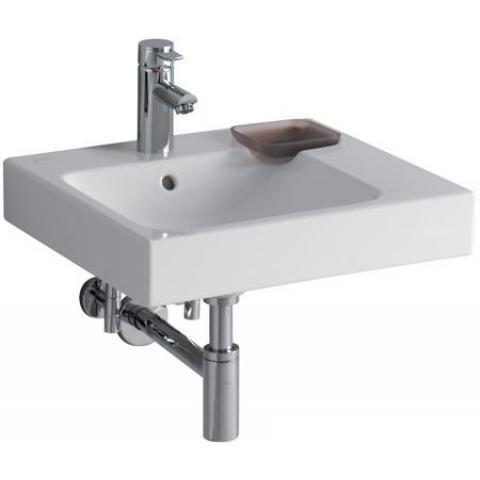 Раковина KeramagРаковины (умывальники)<br>Тип: раковина, Назначение умывальника(раковины): для ванной, Ширина: 500, Глубина: 485, Форма раковины: прямоугольная, Цвет: белый, Отверстие под смеситель: да, Материал: керамика, Коллекция: icon<br>