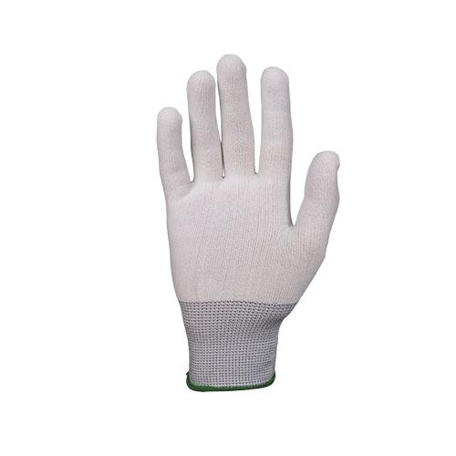 Перчатки JetasafetyПерчатки и рукавицы<br>Тип: перчатки,<br>Тип перчаток: нейлоновые,<br>Пол: унисекс,<br>Размер: S,<br>Цвет: белый<br>