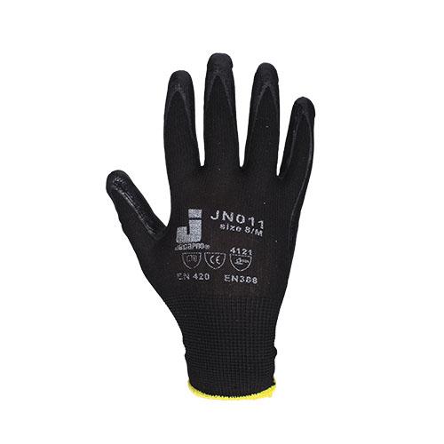 Перчатки нитриловые JetasafetyПерчатки и рукавицы<br>Тип: перчатки,<br>Тип перчаток: нитриловые/мбс,<br>Пол: унисекс,<br>Размер: M,<br>Цвет: черный<br>