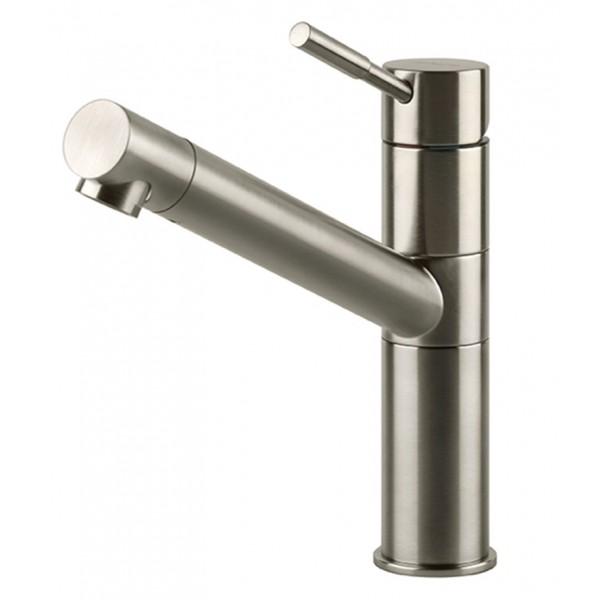 Смеситель ReginoxСмесители<br>Назначение смесителя: для кухонной мойки,<br>Тип управления смесителя: однорычажный,<br>Тип покрытия: брашированная сталь,<br>Цвет покрытия: сталь,<br>Стиль смесителя: модерн,<br>Монтаж смесителя: горизонтальный,<br>Тип установки смесителя: на мойку (раковину),<br>Материал смесителя: латунь,<br>Излив: традиционный,<br>Поворотный излив: есть,<br>Аэратор: есть,<br>Длина (мм): 197,<br>Высота: 195<br>