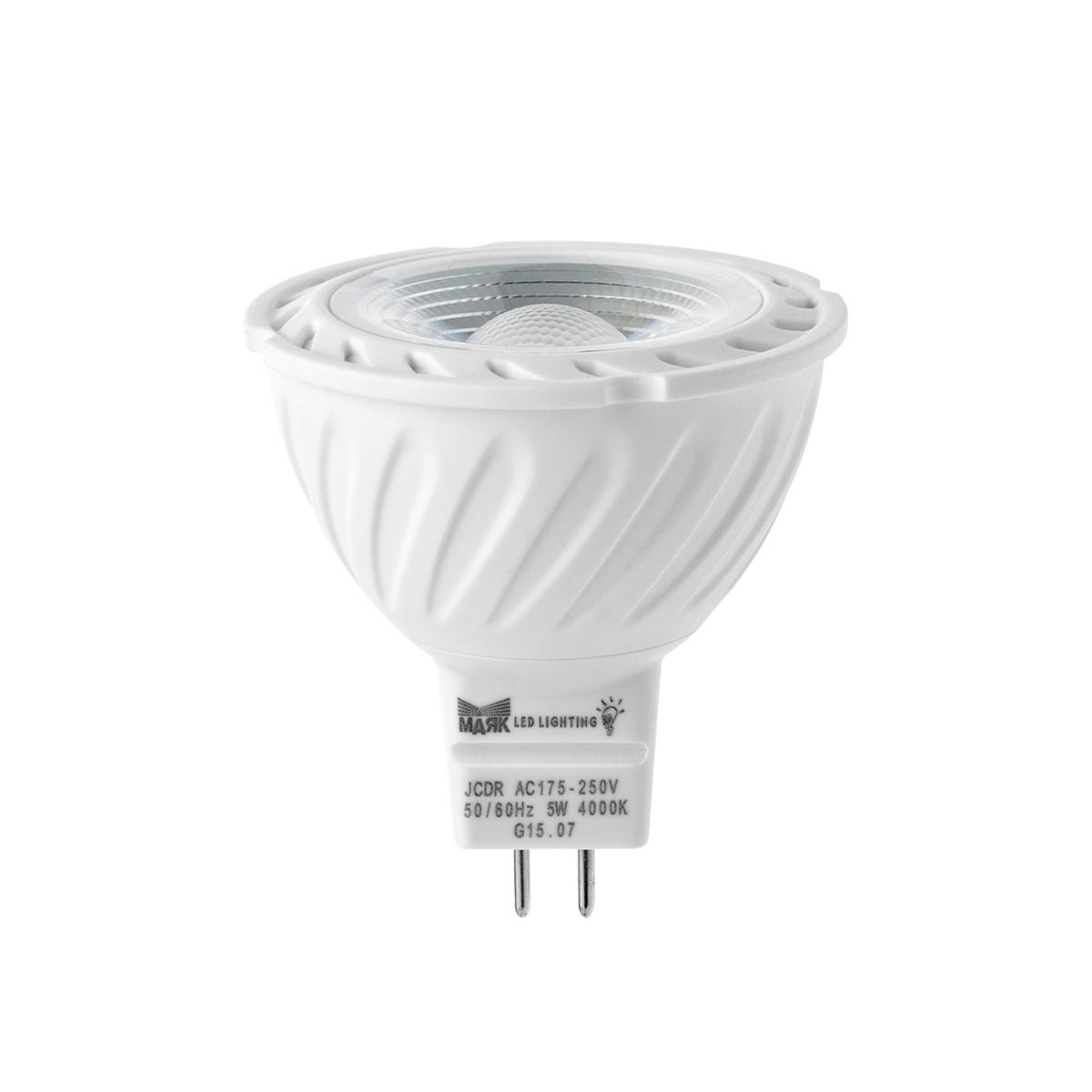 Лампа светодиодная Mayak-ledЛампы<br>Тип лампы: светодиодная, Форма лампы: рефлекторная, Цвет колбы: прозрачная, Тип цоколя: GU5.3, Напряжение: 220, Мощность: 5, Цветовая температура: 3000, Цвет свечения: теплый<br>