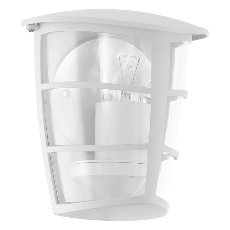 Светильник уличный EgloСветильники уличные<br>Мощность: 60,<br>Тип установки: настенный,<br>Стиль светильника: модерн,<br>Количество ламп: 1,<br>Тип лампы: накаливания,<br>Патрон: Е27,<br>Цвет арматуры: белый<br>