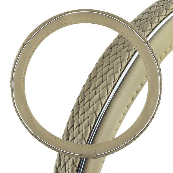 Оплетка SkywayОплетки на руль<br>Размер руля: M (38 см),<br>Материал оплетки: кожа<br>
