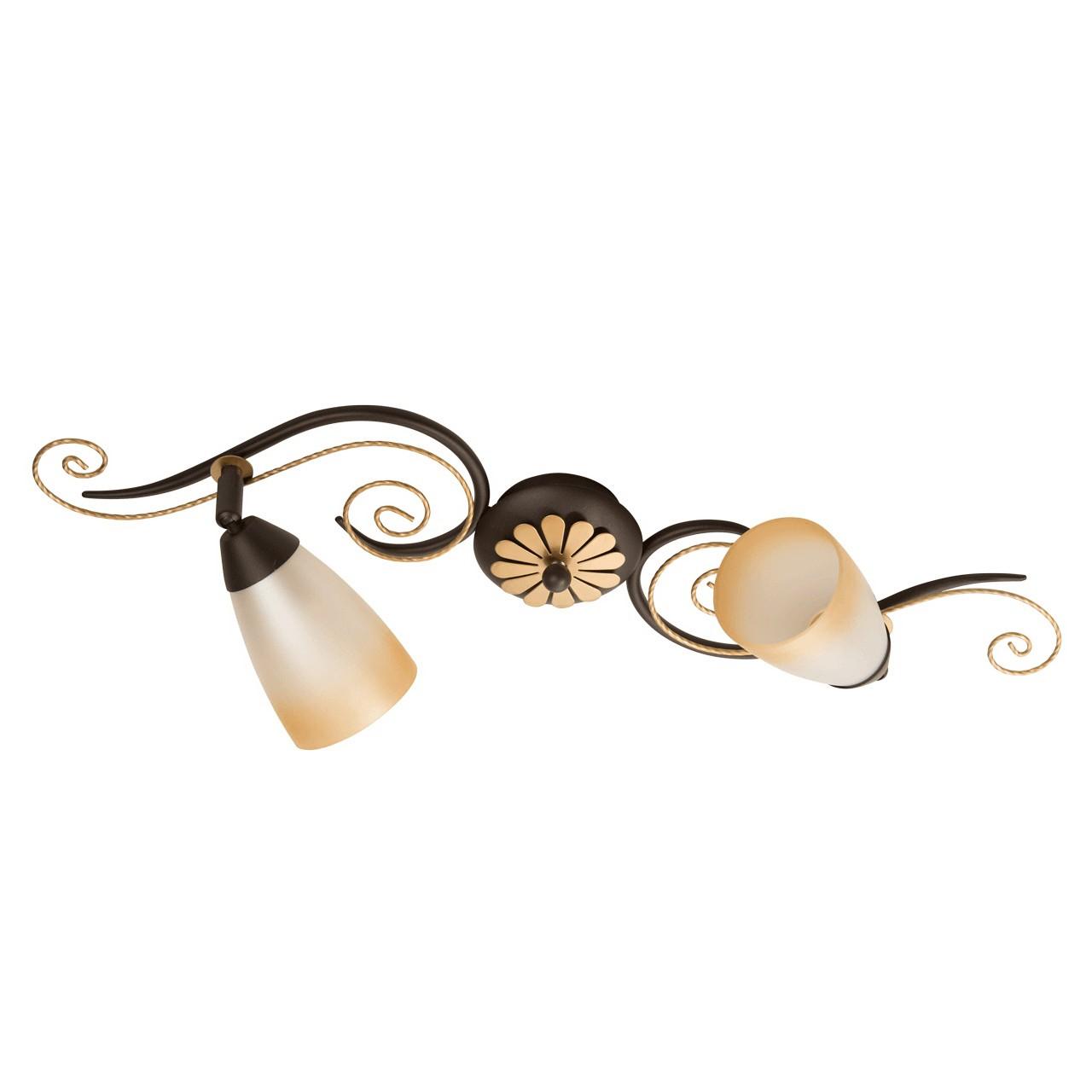 Бра Demarkt cityНастенные светильники и бра<br>Тип: бра, Назначение светильника: для комнаты, Стиль светильника: ковка, Материал светильника: металл, стекло, Тип лампы: накаливания, Количество ламп: 2, Мощность: 40, Патрон: Е14, Цвет арматуры: черный, Длина (мм): 630, Ширина: 120, Высота: 210, Диаметр: 650, Коллекция: Аида<br>