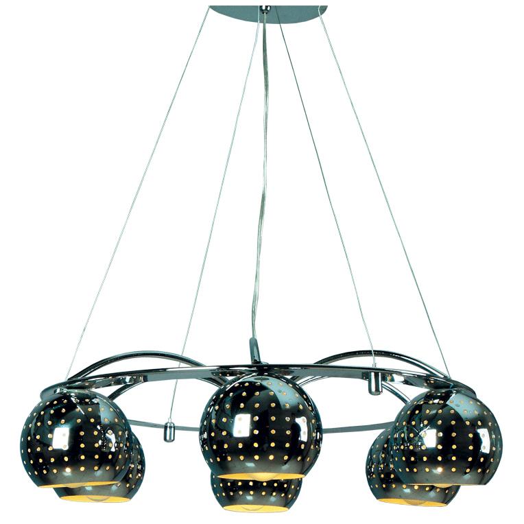 Люстра Mw lightЛюстры<br>Назначение светильника: для комнаты,<br>Стиль светильника: модерн,<br>Тип: подвесная,<br>Материал светильника: металл,<br>Материал плафона: металл,<br>Материал арматуры: металл,<br>Длина (мм): 540,<br>Ширина: 580,<br>Высота: 800,<br>Количество ламп: 6,<br>Тип лампы: накаливания,<br>Мощность: 60,<br>Патрон: Е14,<br>Цвет арматуры: хром,<br>Коллекция: Космос<br>