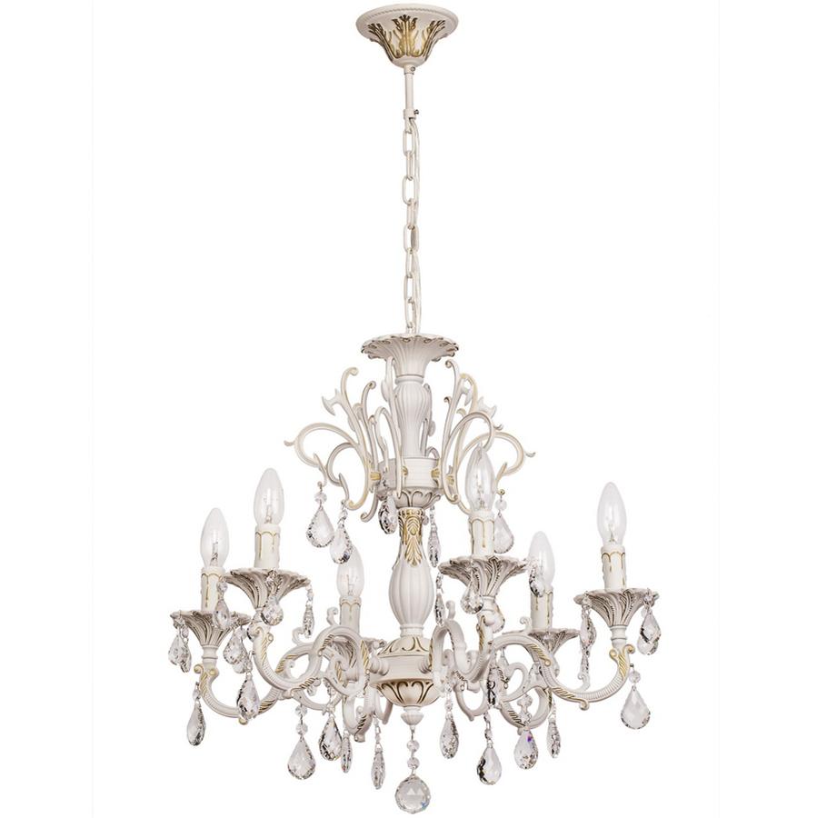 Люстра Mw lightЛюстры<br>Назначение светильника: для спальни,<br>Стиль светильника: классика,<br>Тип: подвесная,<br>Материал светильника: металл, хрусталь,<br>Материал плафона: хрусталь,<br>Материал арматуры: металл,<br>Длина (мм): 340,<br>Ширина: 340,<br>Высота: 960,<br>Количество ламп: 6,<br>Тип лампы: накаливания,<br>Мощность: 60,<br>Патрон: Е14,<br>Цвет арматуры: белый,<br>Коллекция: Свеча<br>