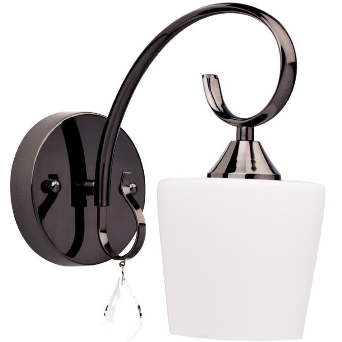 Бра Mw lightНастенные светильники и бра<br>Тип: бра,<br>Назначение светильника: для спальни,<br>Стиль светильника: классика,<br>Материал светильника: металл, стекло, хрусталь,<br>Тип лампы: накаливания,<br>Количество ламп: 1,<br>Мощность: 60,<br>Патрон: Е27,<br>Цвет арматуры: никель,<br>Длина (мм): 250,<br>Ширина: 130,<br>Высота: 250,<br>Коллекция: Блеск<br>