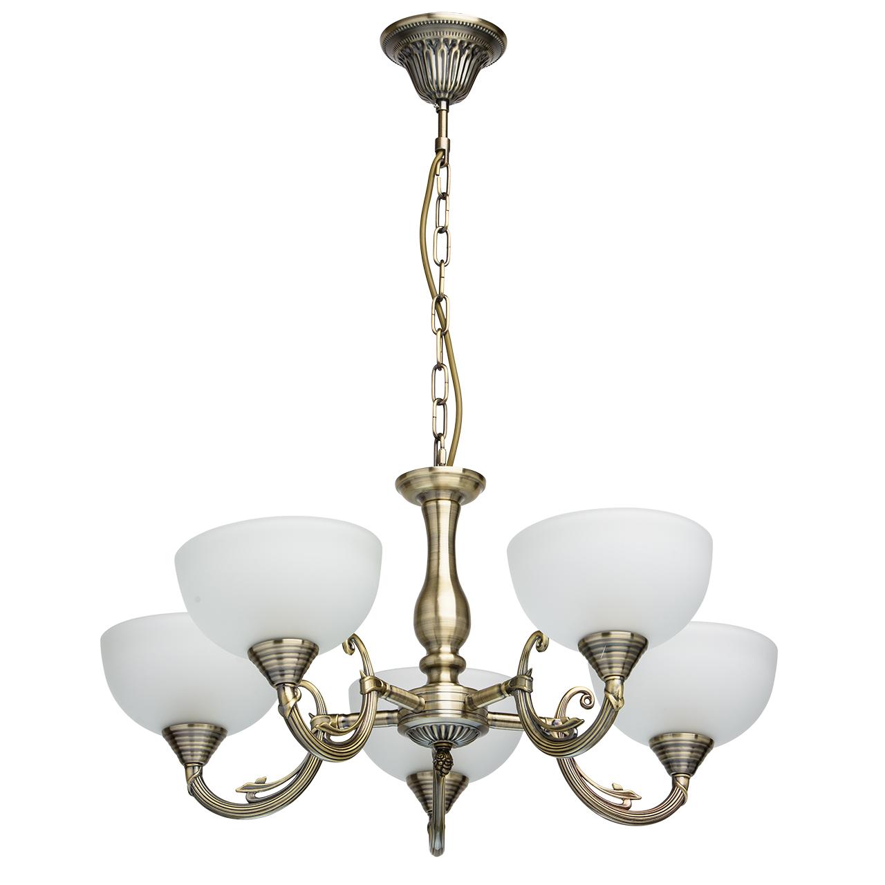Люстра Mw lightЛюстры<br>Назначение светильника: для спальни, Стиль светильника: классика, Тип: подвесная, Материал светильника: металл, стекло, Материал плафона: стекло, Материал арматуры: металл, Длина (мм): 330, Ширина: 360, Высота: 770, Количество ламп: 5, Тип лампы: накаливания, Мощность: 60, Патрон: Е27, Цвет арматуры: алюминий, Родина бренда: Германия, Коллекция: Олимп<br>