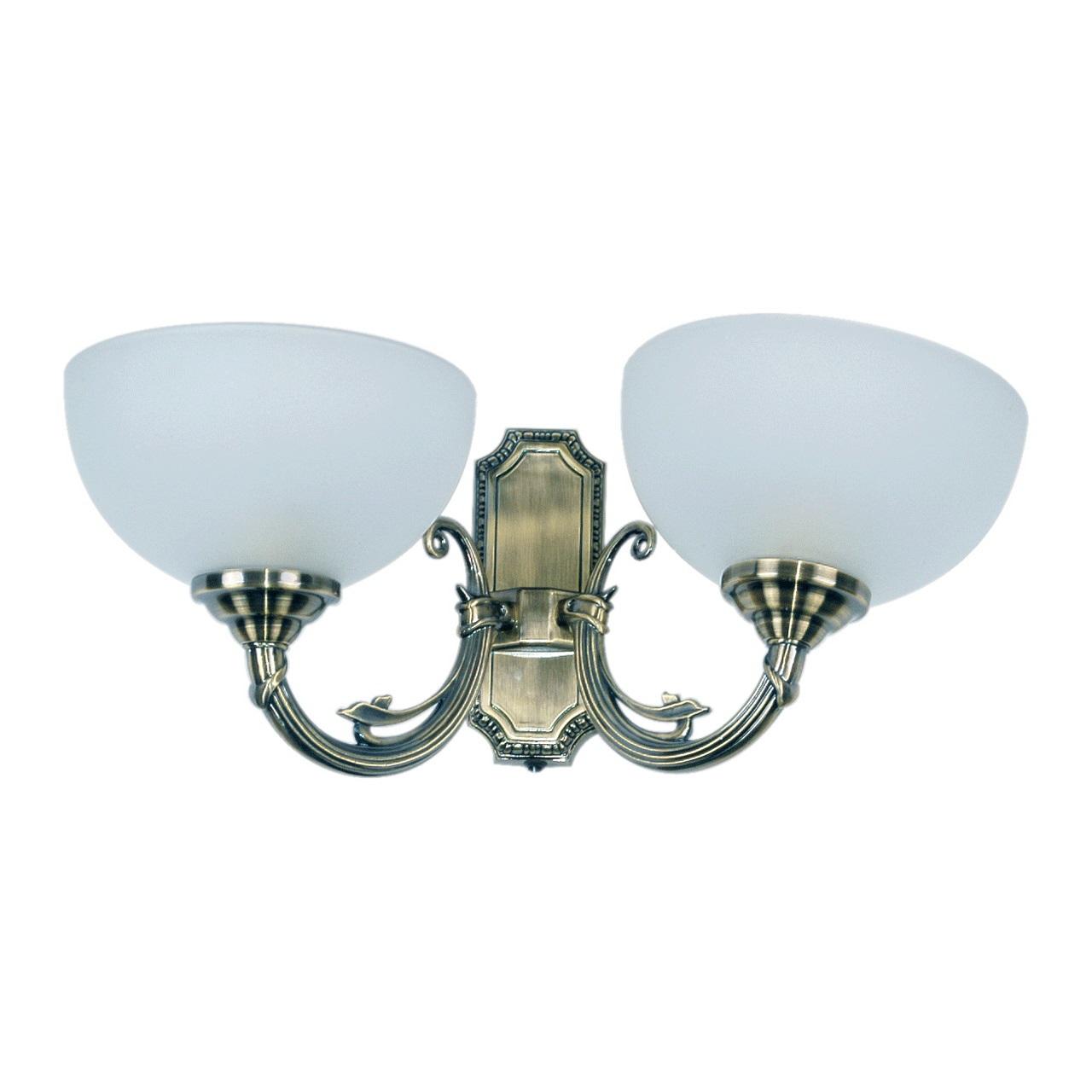 Бра Mw lightНастенные светильники и бра<br>Тип: бра, Назначение светильника: для спальни, Стиль светильника: классика, Материал светильника: металл, стекло, Тип лампы: накаливания, Количество ламп: 2, Мощность: 60, Патрон: Е27, Цвет арматуры: алюминий, Длина (мм): 410, Ширина: 200, Высота: 210, Коллекция: Олимп<br>
