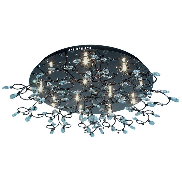Люстра Mw lightЛюстры<br>Назначение светильника: для комнаты, Стиль светильника: арт деко, Тип: потолочная, Материал светильника: металл, хрусталь, Материал плафона: хрусталь, Материал арматуры: металл, Длина (мм): 610, Ширина: 610, Высота: 220, Количество ламп: 12, Тип лампы: галогенная, Мощность: 20, Патрон: G4, Пульт ДУ: есть, Цвет арматуры: никель, Родина бренда: Германия, Коллекция: Амелия<br>