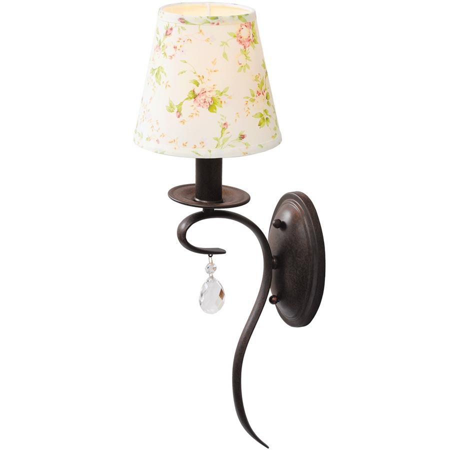 Бра Mw lightНастенные светильники и бра<br>Тип: бра,<br>Назначение светильника: для спальни,<br>Стиль светильника: классика,<br>Материал светильника: металл, текстиль, хрусталь,<br>Тип лампы: накаливания,<br>Количество ламп: 1,<br>Мощность: 60,<br>Патрон: Е14,<br>Цвет арматуры: коричневый,<br>Длина (мм): 180,<br>Ширина: 220,<br>Высота: 570,<br>Коллекция: Прованс<br>
